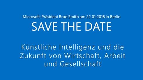 Brad Smith - Künstliche Intelligenz und die Zukunft von Wirtschaft, Arbeit und Gesellschaft