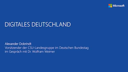 Findet nicht statt: Digitales Deutschland mit Alexander Dobrindt