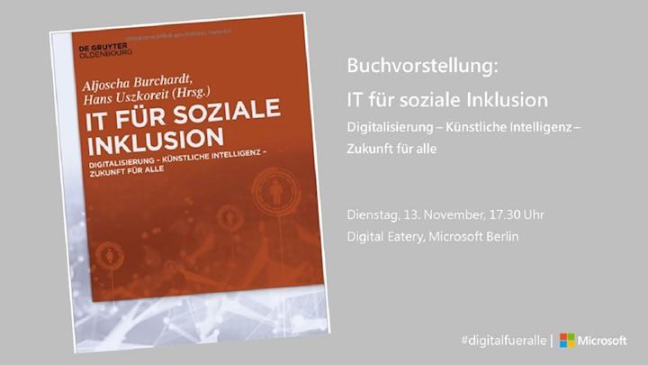 Buchvorstellung: IT für soziale Inklusion - Digitalisierung – Künstliche Intelligenz – Zukunft für alle